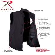 Rothco Concealed Carry Soft Shell Vest, concealed carry clothing, concealed carry vest, concealed carry clothes, concealed carry apparel, conceal carry vest, softshell, softshell vest, mens vest, tactical vest, shooters vest, shooters clothing, concealed vest, rothco vest, concealed carry, vest, concealed carry garments, concealment vest, ccw, police clothing, tactical clothing, cc, 86500, discreet carry, tactical vest, travel vest,