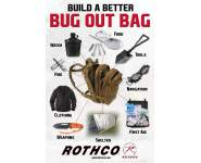 survival, bug out bag, bob, 72 hour bag, bug out bag poster, Rothco survival, survival, preppers, prepping, get out of dodge bag, survival gear, survival tools